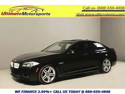 2013 BMW 5-Series  2013 BMW 550i M SPORT NAV HUD SUNROOF LEATHER BLIND LANE BLACK WARRANTY