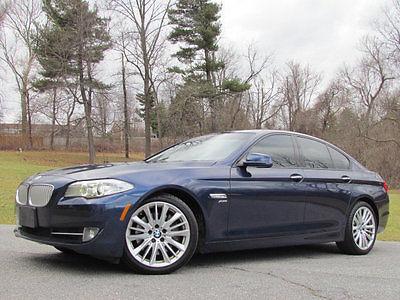 2011 BMW 5-Series 550i xDrive 2011 BMW 550 550i 550Xi X DRIVE BLUE GREY SPORT SEATS