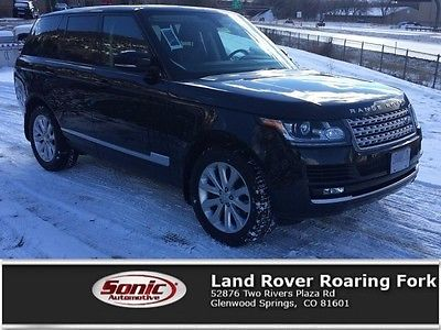 2015 Land Rover Range Rover HSE 2015 Land Rover Range Rover HSE 28275 Miles Mariana Black Metallic Sport Utility