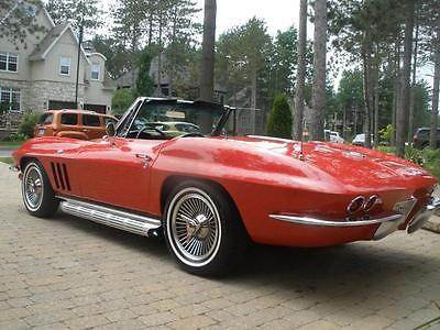 1965 Chevrolet Corvette Base Convertible 2-Door 1965 Corvette 327/365 with factory AC -- very rare