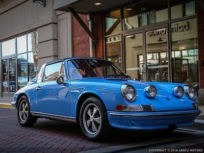 1971 Porsche 911 Handsome1971 Porsche 911 T Targa - Restored in rare factory Pastel Blue.