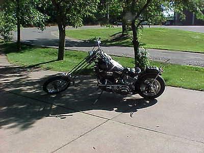 2016 Custom Built Motorcycles Chopper 2016 vintage chopper 70's style pan head plunger frame narrow springer