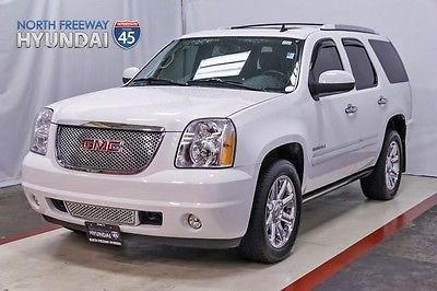 2014 GMC Yukon Denali Leather Sunroof Nav 14 Yukon Denali White Auto 27k mi Power Running Boards Navigation Sunroof