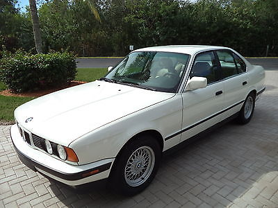 1989 BMW 5-Series SPORT BMW EURO 535I 1989 White 99,700 Original Miles Collectors Classic Florida Car