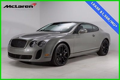 2010 Bentley Continental GT Supersports Coupe 2-Door 2010 BENTLEY SUPERSPORTS DIAMOND QUILTED SEATS REAR VIEW CAMERA CONTRAST STITCH