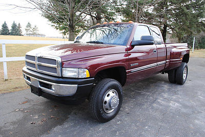 2000 Dodge Ram 3500 Base Extended Cab Pickup 4-Door 2000 DODGE RAM 3500 4X4 QUAD CAB DUALLY CUMMINS 24V TURBO DIESEL!LOW MILES!WOW!!