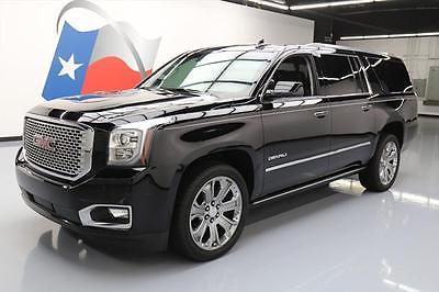 2015 GMC Yukon Denali Sport Utility 4-Door 2015 GMC YUKON XL DENALI SUNROOF NAV BLU RAY 22'S 36K  #530381 Texas Direct Auto