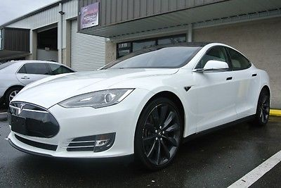2013 Tesla Model S 4dr Sdn Performance P85+ PERFORMANCE PLUS PANO ROOF CARBON FIBER AUDIO 21