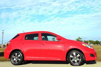 2009 Toyota Matrix FLORIDA 1 OWNER CARFAX CERTIFIED w/ SVC RECORDS!!  RARE COLOR w/ ACCENTS~NO TIMING BELT..HAS A CHAIN~RADIANT RED SPORT EDT~10 11 12