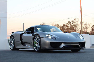 2015 Porsche 918 Spyder 2dr Roadster w/Weissach Pkg 2015 Porsche 918 Spyder / Roadster Weissach Package in Liquid Metal Silver