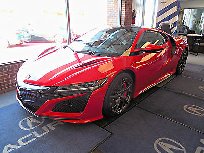 2017 Acura NSX Coupe 2-Door 2017 acura nsx 2 dr coupe curva red carbon brakes carbon fiber roof package