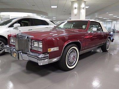 1984 Cadillac Eldorado -- 1984 CADILLAC ELDORADO RED 8 Cylinder Engine Automatic