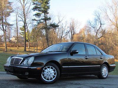 2000 Mercedes-Benz E-Class E320 4dr Sedan 3.2L MERCEDES BENZ 2000 E320 E BLACK LOW MILES CLEAN CARFAX STATE INSPECTED MOONROOF