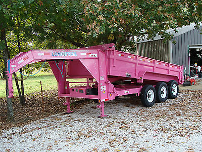 2016 Load Trail GD21 Triple 3 axle Dump Trailer 21k Pink 16x83 Gooseneck