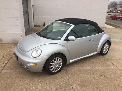 2004 Volkswagen Beetle-New GLS 2dr Convertible 2004 Volkswagen New Beetle GLS 2dr Convertible 84,777 Miles Reflex Silver Conver