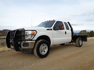 2013 Ford F-350 XL XLT 2013 Ford F350 XL 4WD Extra Cab 6.2L Flat Bed Truck - Wholesale