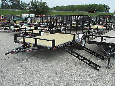 PJ 14' LANDSCAPE ATV UTILITY TRAILER W/ SIDE RAMPS *ON SALE NOW* DR TRAILER