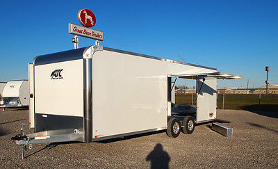 Enclosed Aluminum Car Hauler - ATC Race Trailer - PREMIUM ESCAPE DOOR!