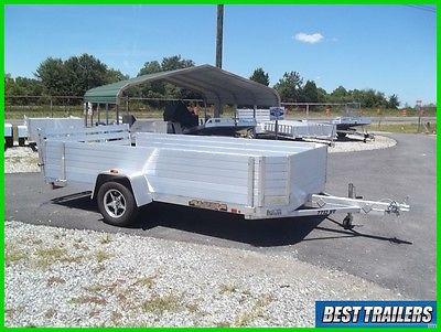 2017 aluma 7712 H bt aluminum utiltiy w 24in solid side rail kit 6 x 12 trailer