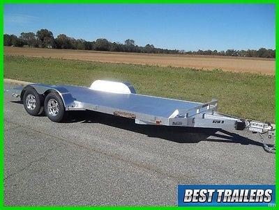 2017 aluma 8218 B New aluminum equipment carhauler trailer w dove tail 7 x 18 ft