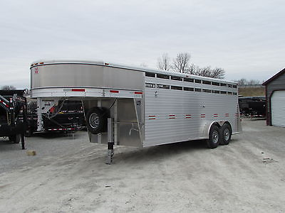 NEW 20' ALL ALUMINUM GOOSENECK STOCK / HORSE TRAILER * BEST DEALS @ DR TRAILER