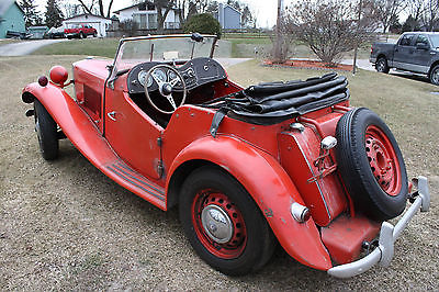 1953 MG T-Series Roadster Convertible 1953 MGTD ~~ All Original including Paint and Engine~~ 40 yrs in Dry Storage