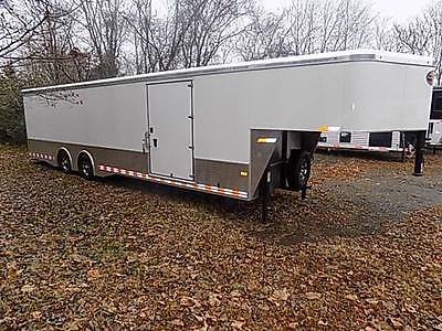 New 85x30 ALL ALUMINUM Gooseneck Enclosed Trailer DEMO Priced To SALE