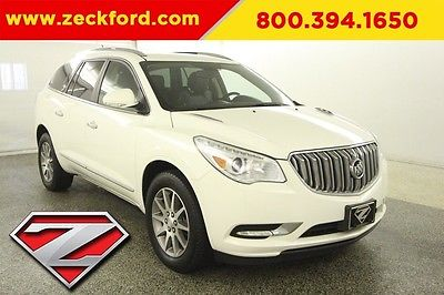 2015 Buick Enclave Leather Group 3.6L V6 Automatic FWD Heated Seats Bucket Backup Camera XM Radio BLIS