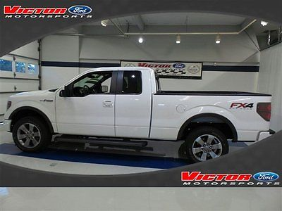 2013 Ford F-150 FX4 SUPERCAB 4X4 FORD CERTIFIED 2013 Ford F-150 FX4 SUPERCAB 4X4 FORD CERTIFIED 24686 Miles White Extended Cab P