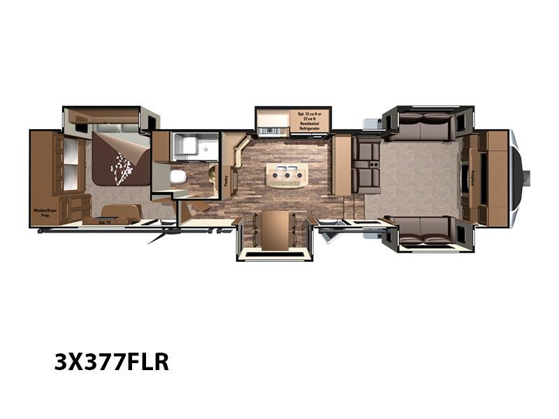 Highland Ridge Rv Open Range 3X 3X377FLR, 1