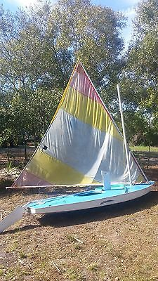 14' AMF Alcort Sunfish Sailboat  w/dolly DELIVERY AVAILABLE