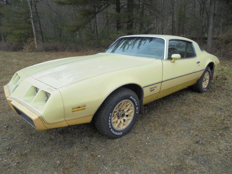 1980 Pontiac Firebird 1980 PONTIAC FIREBIRD ESPIRT RARE YELLOWBIRD RPO W73 PROJECT CAR W/ BUILD SHEET