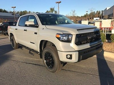 2017 Toyota Tundra TRD Pro DUAL EXHAUST TRD SUSPENSION LED BED LIGHT PREDATOR STEPS NAV LEATHER BACKUP CAM