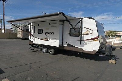 2014 FOREST RIVER EVO STEALTH 2050 2 SLIDE POWER AWNING TRAVEL TRAILER