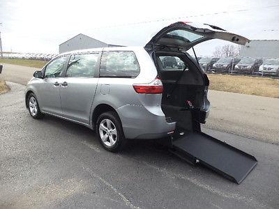2015 Toyota Sienna L 2015 TOYOTA SIENNA HANDICAP WHEELCHAIR VAN REAR ENTRY CONVERSION