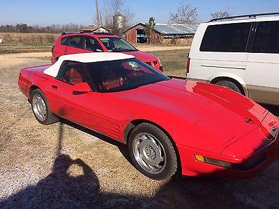 1991 Chevrolet Corvette 1991 CHEVROLET CORVETTE, CONVERTIBLE