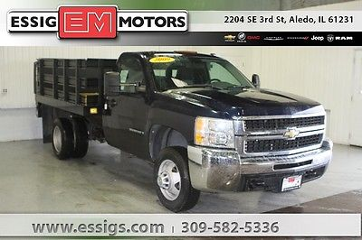 2009 Chevrolet Silverado 3500 Work Truck Used 09 Chevy 3500HD Regular Cab Stake Bed Tommy Lift 6.0L V-8 Low Miles Work