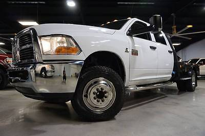 2011 Ram Ram Chassis 3500 ST 4x2 4dr Crew Cab 172.4 in. WB Chassis 11 Ram Chassis 3500 ST 6.7L Cummins 6SP AT Flat bed 1owner DPF Deleted Carfax TX