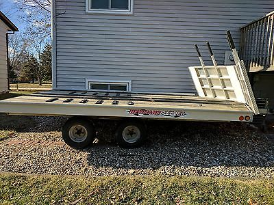 Sled Bed Snowmobile Trailer Drive on/off 12ft, tandem axle, aluminum, ATV