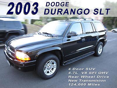 2003 Dodge Durango SLT Sport Utility 4-Door 2003 Dodge Durango SLT Black 4 Door SUV 4.7L V8 124K Clean Interior 2nd owner