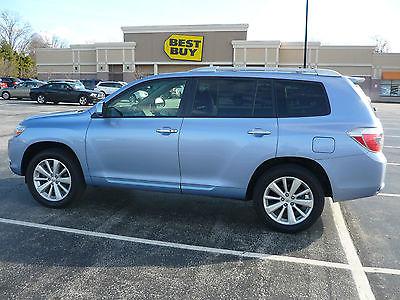 2008 Toyota Highlander Hybrid Limited Sport Utility 4-Door LOW MILEAGE NO PROBLEM PEARL LIGHT BLUE HIGHLANDER HYBRID LTD