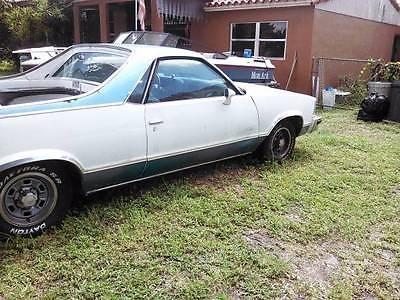 1979 Chevrolet El Camino custom White, 305 V8 Automatic, Electric windows & doors, A/C, needs TLC, Project car
