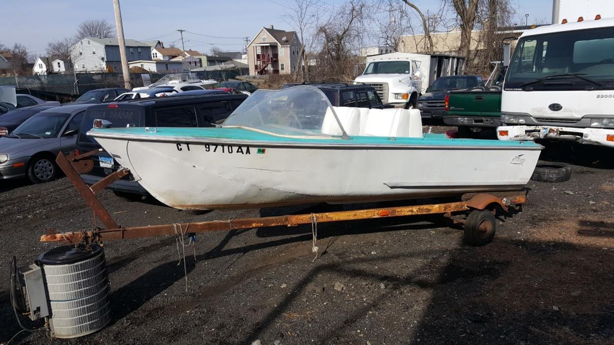 Mid Sixties Duratech Neptune Aluminum Runaboat with Trailer