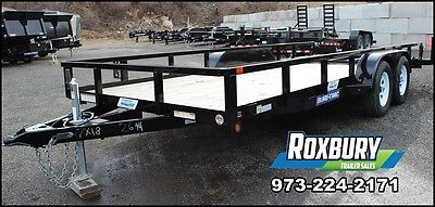 2016 Sure-Trac 7x18 Tube Top Utility Equipment Landscape Trailer