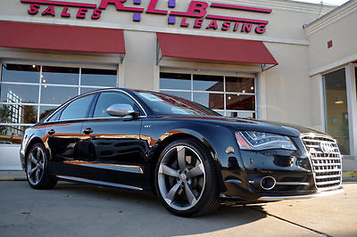 2013 Audi S8 Base Sedan 4-Door 2013 Audi S8 Quattro AWD, 1-Owner, Leather, Moonroof, 21