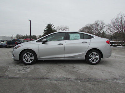 2017 Chevrolet Cruze 17 CHEVROLET CRUZE 4DR SDN LT 17 CHEVROLET CRUZE 4DR SDN LT New Sedan Automatic Gasoline 1.4L 4 Cyl Silver Ice