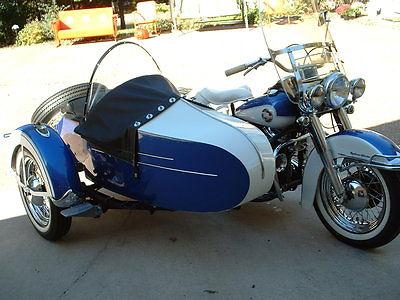 1957 Harley-Davidson Touring 1957 Harley-Davidson FLH with sidecar, White/ Blue color