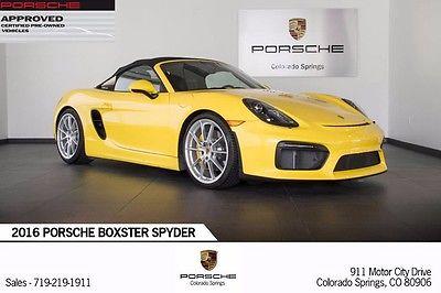 2016 Porsche Boxster 2016 Porsche Spyder