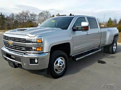 2017 Chevrolet Silverado 3500 New 3500HD LTZ Z71 Duramax Plus Allison 4X4 DRW 2017 Chevrolet Silverado Silver/Black Leather Navigation Bose DVD Chrome Steps