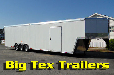 2017 8.5x40 Forest River Enclosed Gooseneck Trailer with Triple 6K Axles
